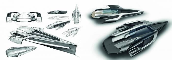 2012 Audi Trimaran Yacht design concept Photos